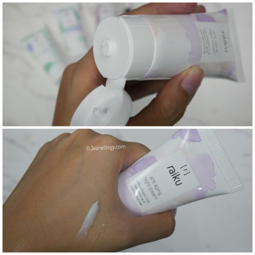 raiku night cream anti aging
