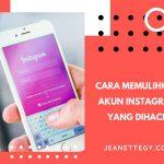 Memulihkan Akun Instagram
